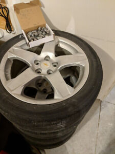Chevy 17'' Factory OEM Alloy Rims & Tires w/ TPMS Sensors