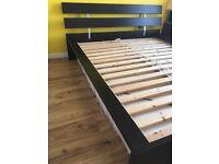 King size IKEA bed & Mattress (Malm)