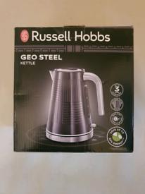 Brand new russell hobbs geo steel kettle