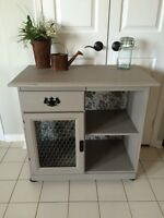 Refinished cabinet/buffet/lichen sideboard