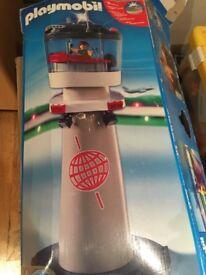 £12 playmobile; aeroplane, baggage handler and air traffic tower