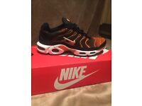 Nike Tn (black/orange) size 7. can post or delivery locally!!