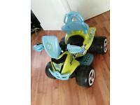 Kids electric quad swap balance bike