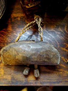 """primitive YAK COW BELL wooden HAND CARVED Cambodian 9 1/2"""" Cambridge Kitchener Area image 8"""