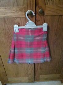 School tartan skirt