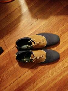 Blue & Tan Dressy Shoes (11 / EU 44)