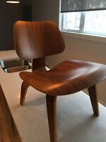 Ray and Charles Eams moulded plywood lounge chairs a pair
