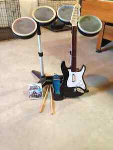 Rock Band 2 and instruments