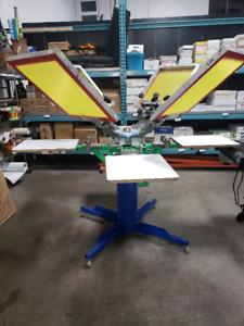 4 Colour/ 4 Station Screen Press, Exposure Unit & Conveyor Dryer