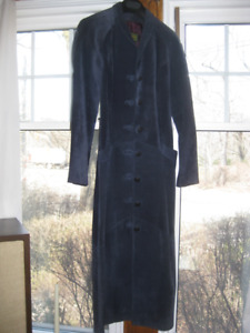 Vintage Full length Dress/Coat -Suede by Danier Leather