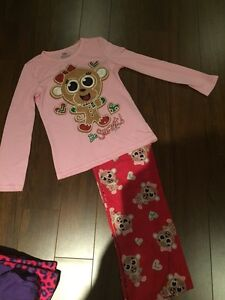 Justice size 10 pyjamas with strawberry scent