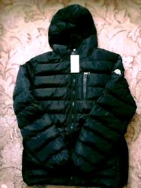 Moncler coat dark blue colour size L Black colour size M £60