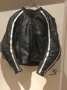 Motorcycle Jacket Leather-Womens M