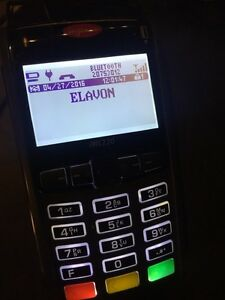 Terminal paiement debit/credit card machine ELAVON wireless