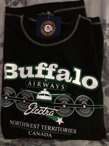 TWO BUFFALO AIRWAYS SHIRTS BOTH BRAND NEW LARGE.OBO.