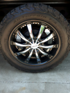 "20"" wheels ko2 tires"