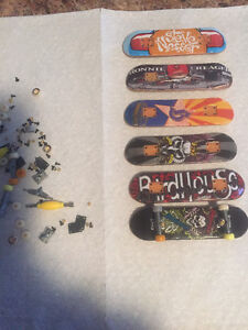 Set of six Tech Deck boards