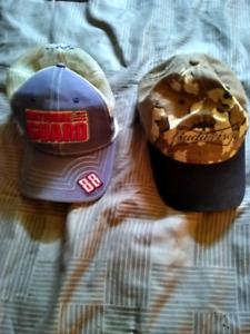 Two NASCAR Dale Jr hats.