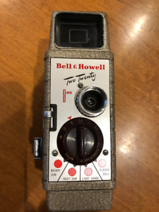 Vintage Bell & Howell Two Twenty 8mm Movie Camera