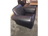 Kids black leather sofa
