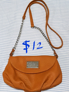 Golden brown crossbody handbag