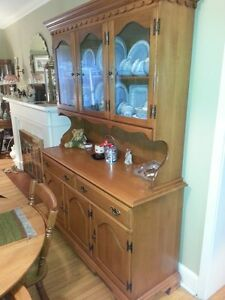 For Sale -Table, 4 chairs, leaf, matching hutch