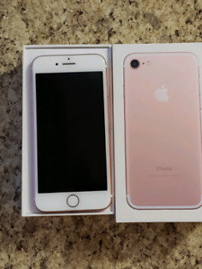 Unlocked iPhone 7 rose pink 32 GB available only for $400.