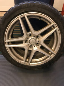 "17"" 3 Winter Tires & Rims 225/45R17"