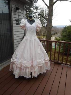 Rare plus size 80s prom dress pink rental only tagged size 20 best in show - Plus Size 80s
