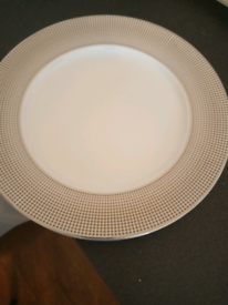 White and Gold Dinner Plates