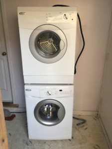 Whirlpool 24 inch stackable washer and dryer for sale