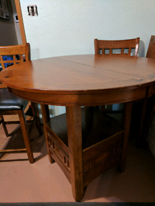 Bar Height Table & 3 Chairs