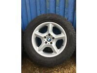 """BMW X5 e53 17"""" wheels and winter tyres. Set of four in very good condition."""