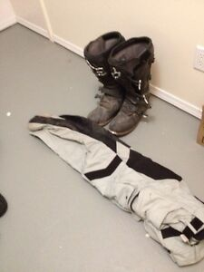Dirt bike pants and boots size 15