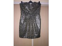 Next Animal Print Jacquard Dress Size 16 BNWT
