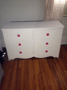 Little girls dresser and matching rocking chair