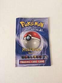 Pokemon rule book 1999