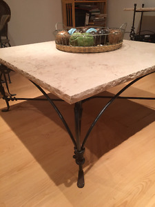 Coffee table, night table and a 2 shelf tv unit from marble.