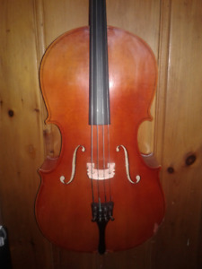 1/2  Size Cello.  with case and bow.