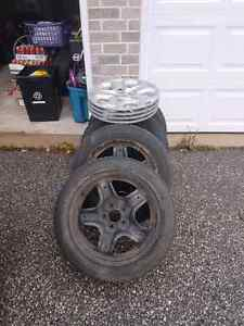225 50 17 winter tires on 5x114.3 rims  Peterborough Peterborough Area image 1
