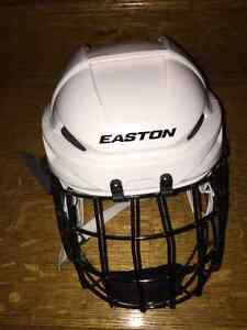 Easton E400 Adult White S Hockey Helmet, Easton E700FM Cage S