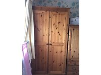 pine wardrobe with shelve