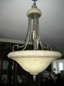 Matching Chandelier, 3 Ceiling and  3 Pendant Lights