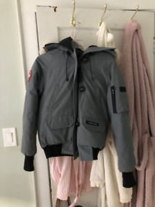 LIKE NEW! Canada Goose Bomber Coat in Light Grey - Size XS