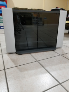 New TV Stand with 2 glass doors and 2 shelves (MUST GO ASAP)