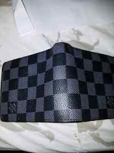 Louis Vuitton black and Grey wallet