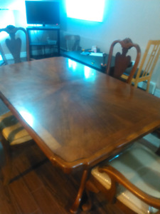 Antique dining table and chairs for sale