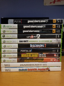 XBOX 360 / PS3 / WII - Mario, GTA, Portal, Borderlands, COD