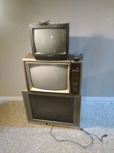 27, 20, and 14 inch colour tvs