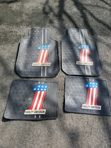 Car mats 3 sets Harley Davison, Toyota and plain grey